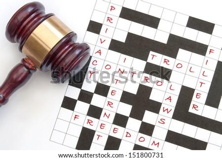 Internet law concept  - stock photo