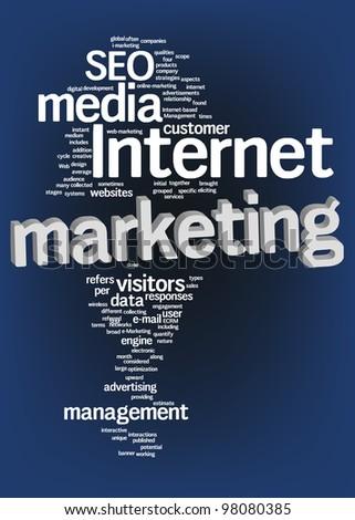 Internet marketing text cloud - stock photo