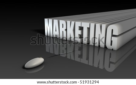 Internet Marketing with Mouse in 3d Abstract - stock photo