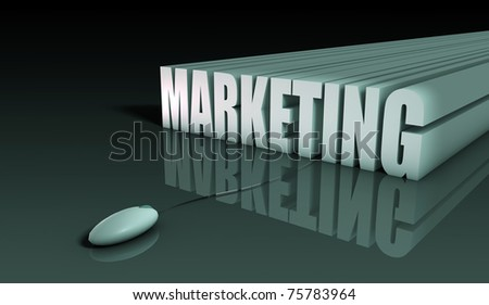 Internet Marketing with Mouse in 3d Abstract
