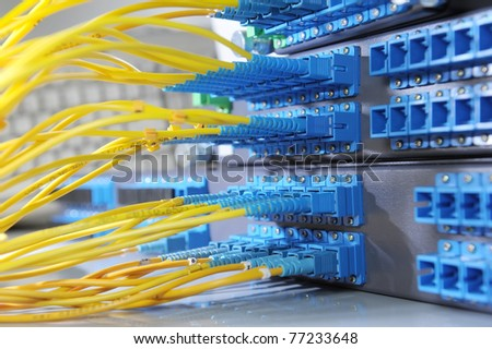 internet network server room
