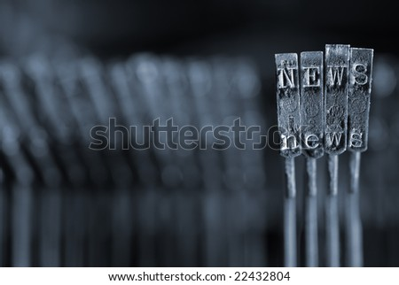 Internet News Page Concept - Please see my portfolio for others in this series. - stock photo