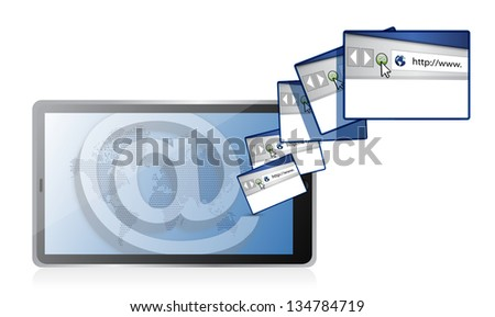 internet online concept illustration design over a white background - stock photo