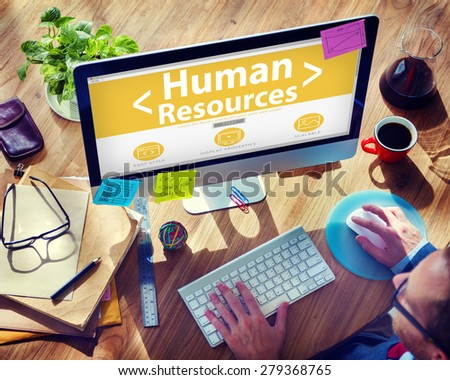 Internet Online Human Resources  Office Working Concept - stock photo
