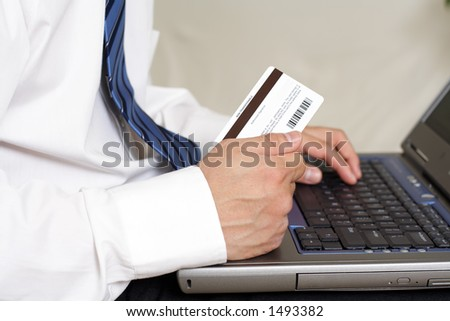 Internet/online purchase, can be used for e-commerce - stock photo