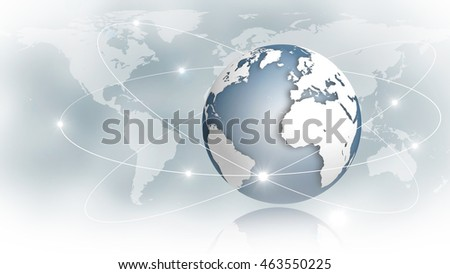 Internet or Business Concept of Global Net