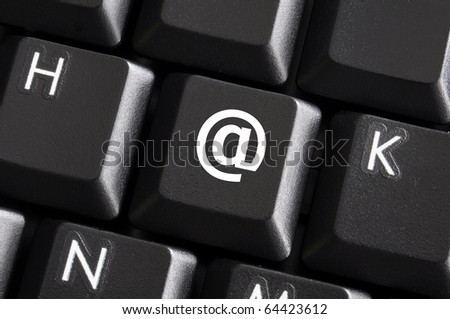 internet or web concept with email or mail button - stock photo