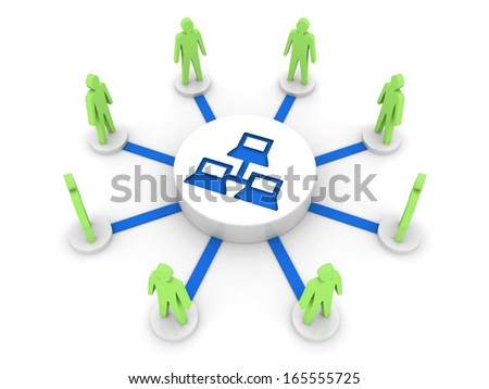 Internet. Private network. Concept 3D illustration. - stock photo