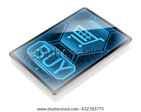 Internet purchase (image is not 3D rendering) - stock photo