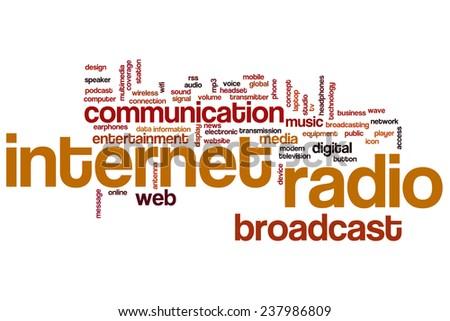 Internet radio word cloud concept - stock photo