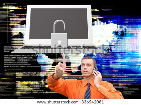 Internet.safety e-business - stock photo