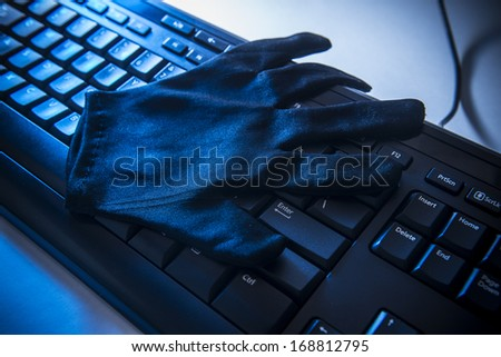 Internet security and fraude - stock photo