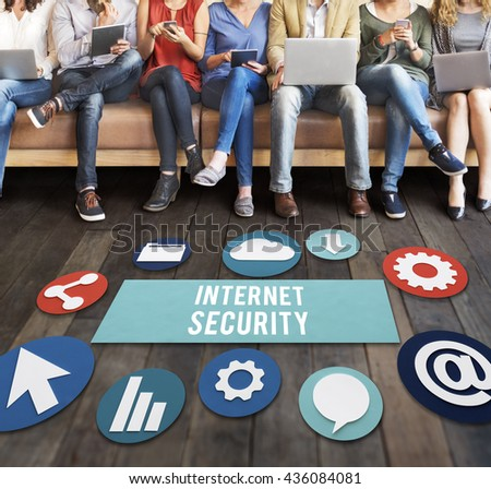 Internet Security Communication Technology Concept - stock photo