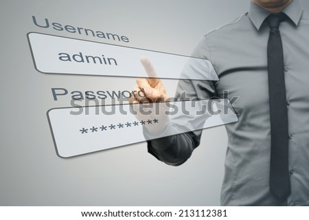 internet security concept - stock photo