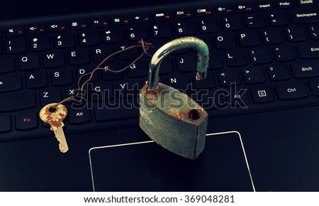 Internet Security - Passwords - stock photo