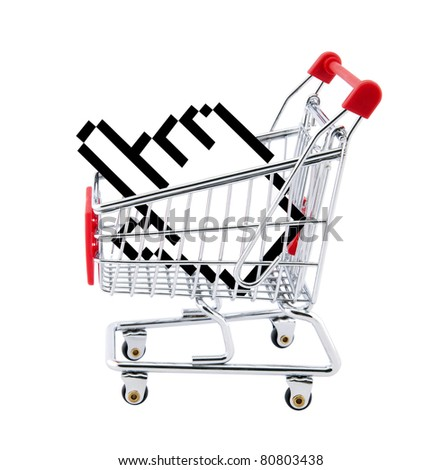 Internet shopping. Clipping path included. - stock photo