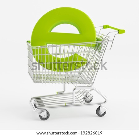 Internet shopping. Symbol e-commerce shopping cart - stock photo
