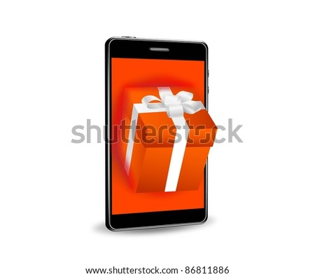 internet shopping with smart phone - stock photo