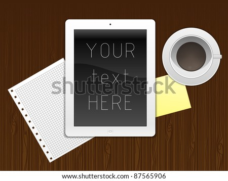 Internet tablet - stock photo