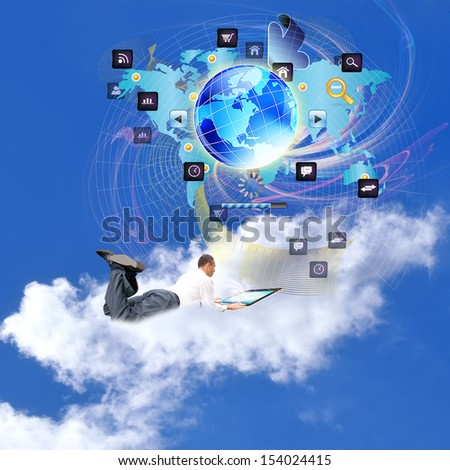 Internet technologies.E-business.Network - stock photo