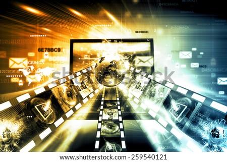Internet technology - stock photo
