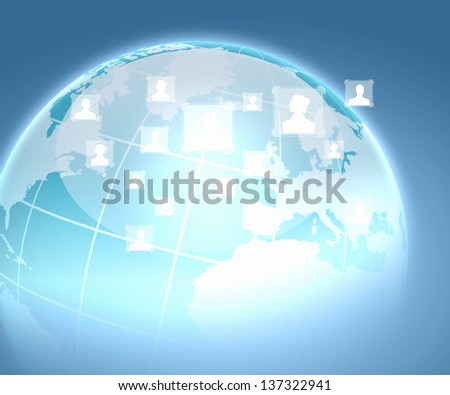 Internet technology concept of global business from concepts series - stock photo