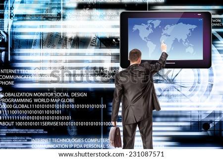 Internet technology.Financial e-business - stock photo