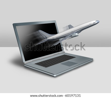 internet travel online traveling on the web - stock photo