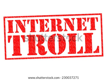 INTERNET TROLL red Rubber Stamp over a white background. - stock photo