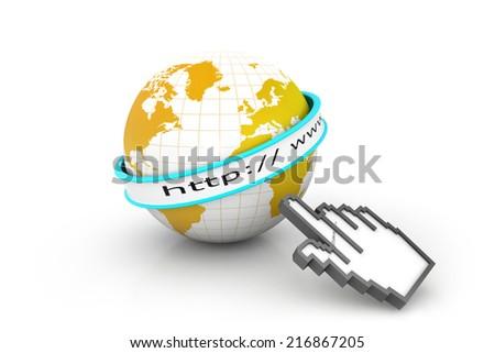 Internet URL with globe  - stock photo