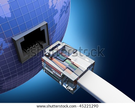 internet using - stock photo