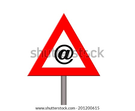 Internet warning - stock photo