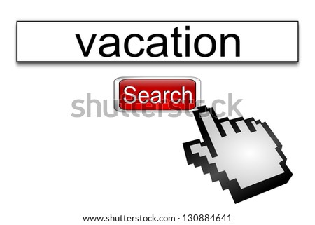 Internet web search engine vacation - stock photo
