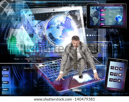 Internet website network - stock photo