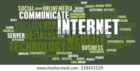 Internet Word Cloud as a Technology Concept - stock photo