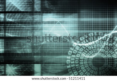 Internet World Wide Web Abstract Tech Background - stock photo