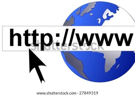 internet worldwide - stock photo