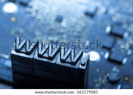Internet www. website design & .com icon - stock photo