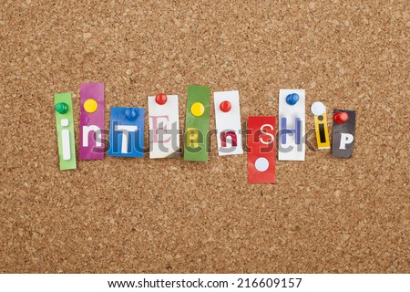 Internship Cut out Letters