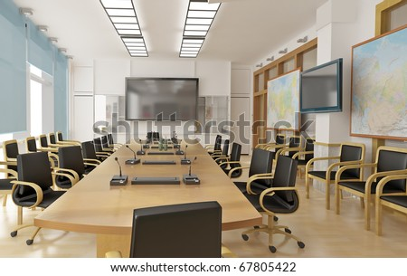 Interrior of conference room - stock photo