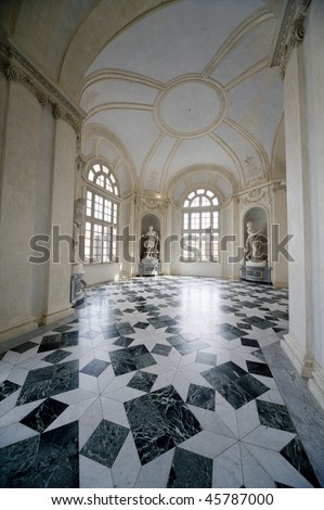 interrior of royal palace Reggia di Venaria - Turin - stock photo
