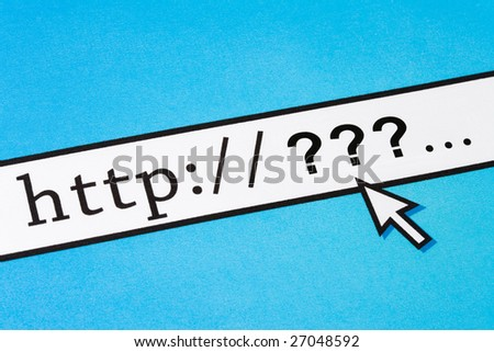 interrogation, concept of online issues - stock photo