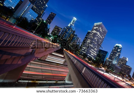 Intersecting traffic in the city - stock photo