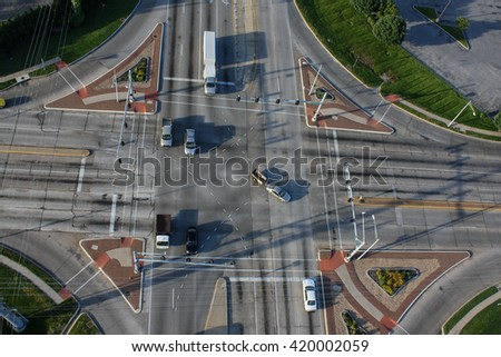 Intersection 2 - stock photo