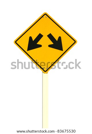 intersection sign - stock photo