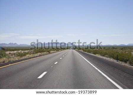Interstate 10 Arizona USA - stock photo