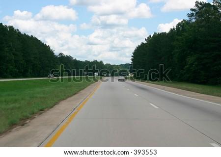 Interstate Highway in Georgia, USA - stock photo
