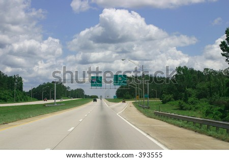 Interstate Highway in Georgia, USA - stock photo