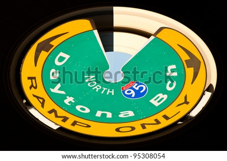 Interstate Highway 95 Round Sign