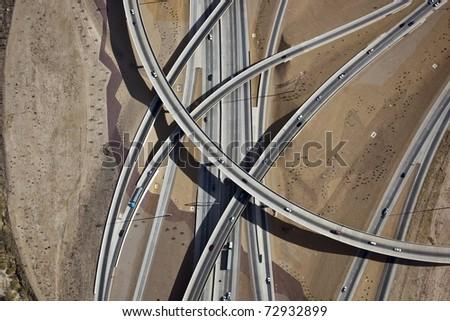 Interstate ten and nineteen interchange in Tucson - stock photo